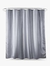 John Lewis & Partners Silver Shimmer Shower Curtain