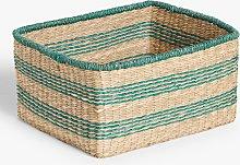 John Lewis & Partners Square Seagrass Basket,