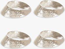 John Lewis & Partners Swirl Napkin Rings, Set of