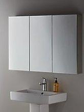 John Lewis & Partners Triple Mirrored Bathroom