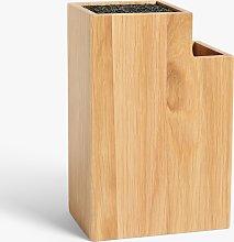 John Lewis & Partners Universal Empty Knife Block,
