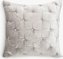 John Lewis & Partners Velvet Stitch Small Cushion