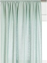 John Lewis & Partners Washed Linen Slot Top Voile