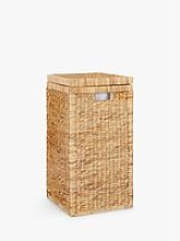 John Lewis & Partners Water Hyacinth Laundry Hamper