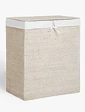 John Lewis & Partners White Rattan Double Laundry