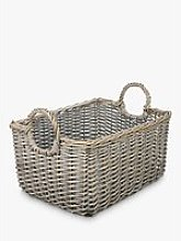 John Lewis & Partners Wicker Medium Basket, Grey