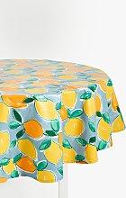 John Lewis & Partners Wipe Clean PVC Lemons Round