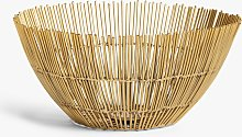 John Lewis & Partners Wire Serving Bowl, 25cm, Gold