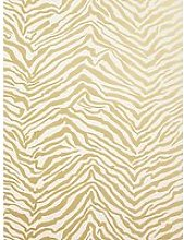 John Lewis & Partners Zebra Wallpaper, Gold