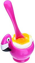 Joie Egg Cup with Spoon Flamenco, Pink, 7x 5x