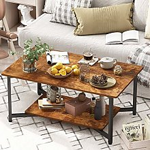 JOISCOPE Coffee Table, 2-Tier Coffee Table,