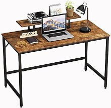 JOISCOPE Computer Desk, Gaming Desk with Shelves,