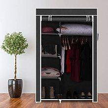 JOJO456 Portable Clothes Wardrobe, 4-Layer Closet