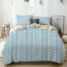 Jojun Duvet Cover Set Beige,Baby Counting Sheep