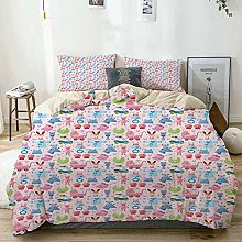 Jojun Duvet Cover Set Beige,Baby Cute Teddy Bear