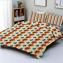 Jojun Duvet Cover Set,Hexagonal Comb Pattern