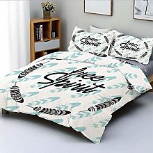 Jojun Duvet Cover Set,Quote About Being Free