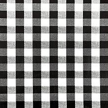 Jolee Fabrics Black and White Gingham PVC Vinyl