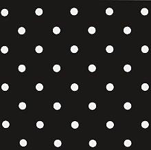 Jolee Fabrics Black & White Polka Dot PVC Vinyl