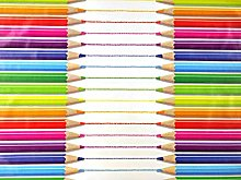 Jolee Fabrics Crayons & Pencils Design PVC Round