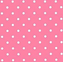 Jolee Fabrics Pink and White Small Polka Dot PVC