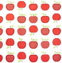 Jolee Fabrics Red Apple Design PVC Round