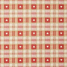 Jolee Fabrics Red Heart Check PVC Round Tablecloth