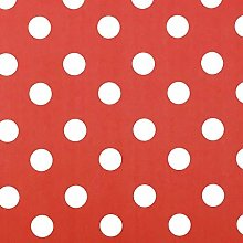 Jolee Fabrics Red With White Polka Dot Wipe Clean