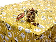 Jolee Fabrics Wipe Clean Tablecloth Yellow Floral