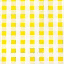 Jolee Fabrics Yellow and White Gingham PVC Vinyl