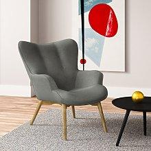 Jolene Lounge Chair Hykkon Upholstery Colour: Dark