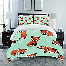 JOLIEAN Duvet Cover Set-Bedding,Happy Cute Red