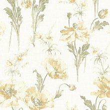 Joliet Buttercup Floral 10m x 52cm Wallpaper Roll