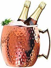 Jolitac Moscow Mule Copper Ice Bucket 5 Quart