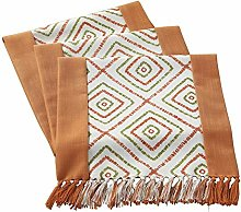 JOMSK Table Mats Set Durable Lattice Cotton &