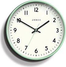 Jones Clocks Jam Matte Wall Clock - Mint Green