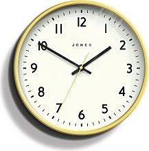 Jones Clocks Jam Matte Wall Clock - Yellow