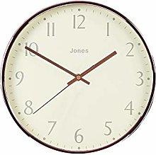Jones Clocks® Large Round Wall Clock - The Penny,