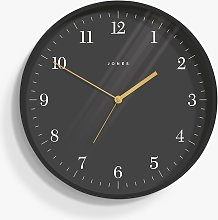 Jones Clocks Mag Analogue Wall Clock, 35cm, Grey