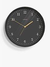 Jones Clocks Mag Analogue Wall Clock, 35cm, Grey