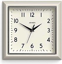 Jones Clocks® Mustard Square Retro Wall Clock