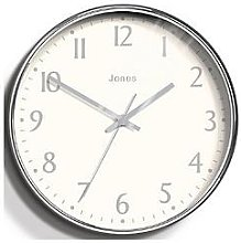 Jones Clocks Penny Chrome Wall Clock