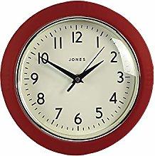 Jones Clocks® Round Retro Wall Clock – The