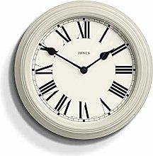 Jones Clocks® Savoy Round Metal Wall Clock With