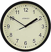 Jones Clocks® Small Round Wall Clock - The Spin -