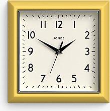 Jones Clocks Square Retro Analogue Wall Clock,