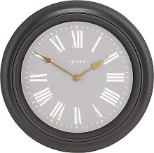 Jones Clocks Supper Club Wall Clock - Grey