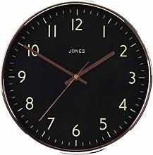 Jones The Studio Wall Clock, Polished Copper,