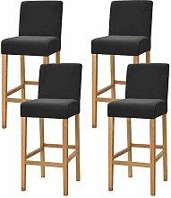Jonist Bar Chair Stool Covers, Velvet Stretch