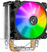 Jonsbo LED CPU Radiator Cooling Fan 2 Heat Pipes